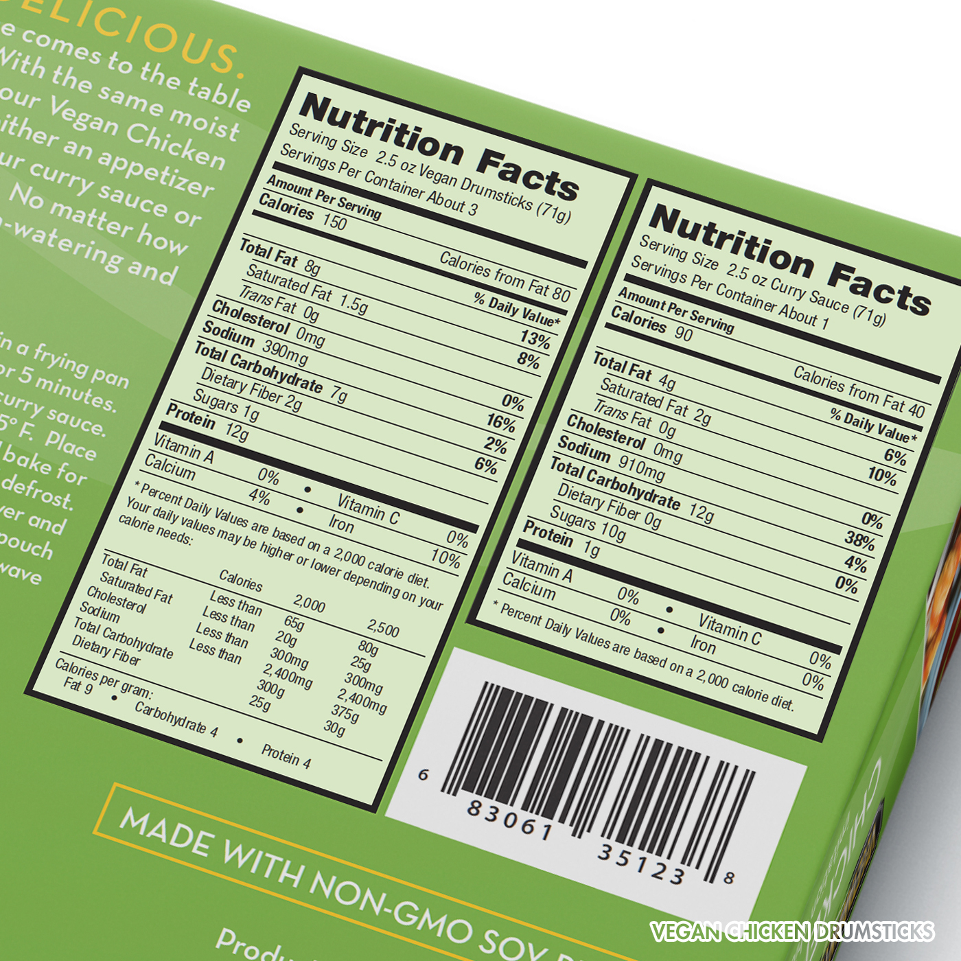 Vegan Chicken Drumsticks Nutrition Facts