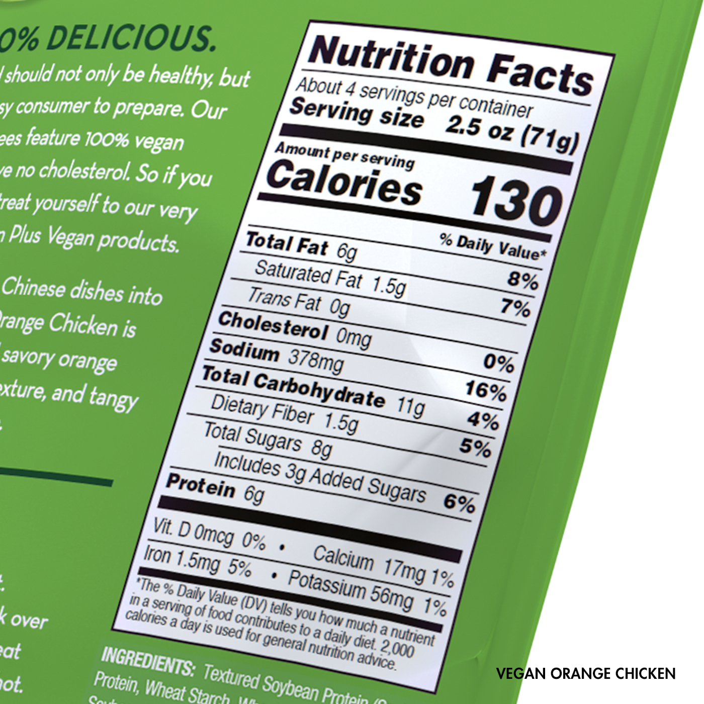 Vegan Orange Chicken Nutrition Facts