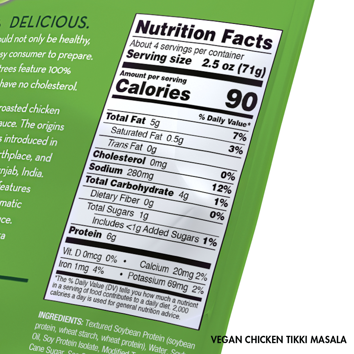 Vegan Chicken Tikka Masala Nutrition Facts