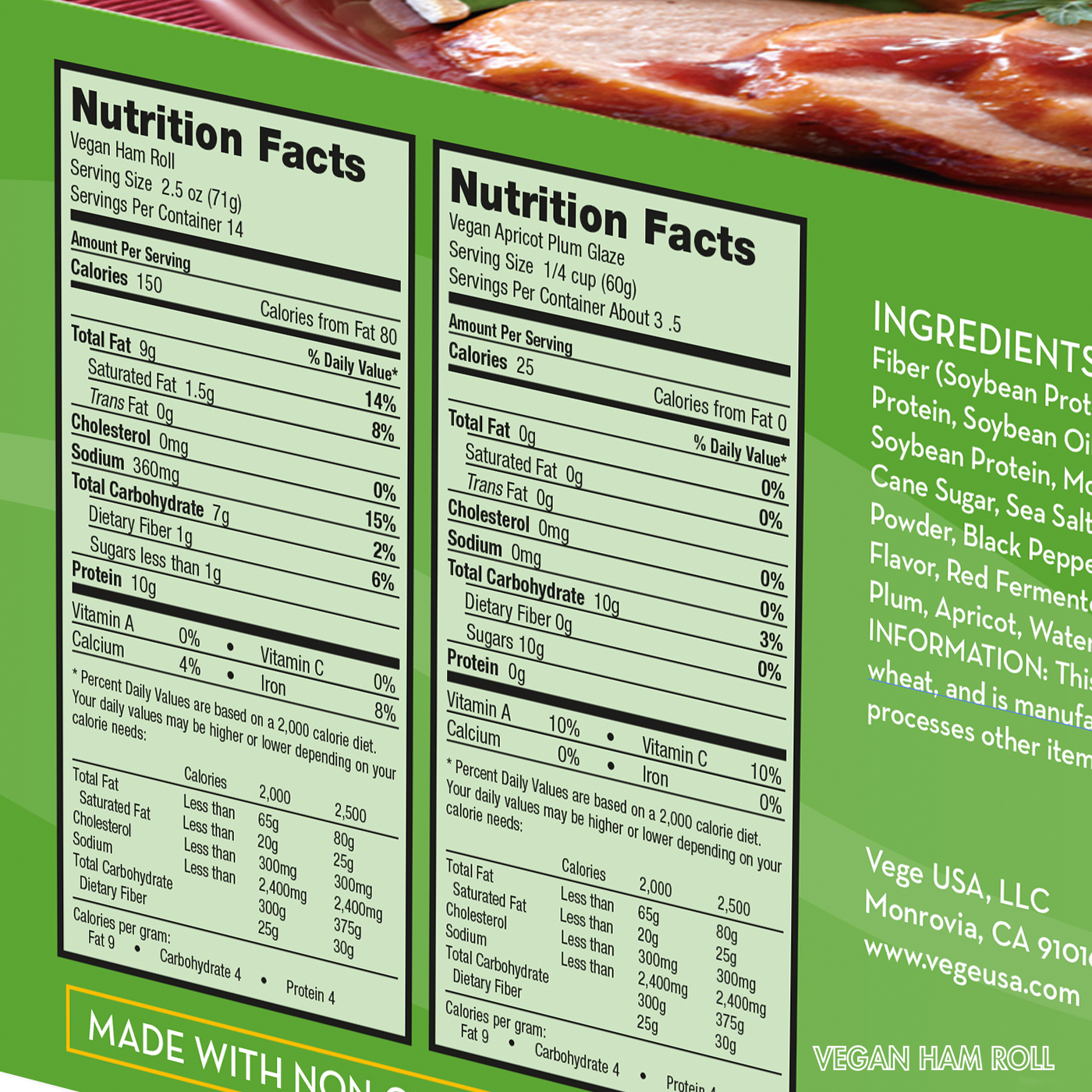 Vegan Ham Nutrition Facts