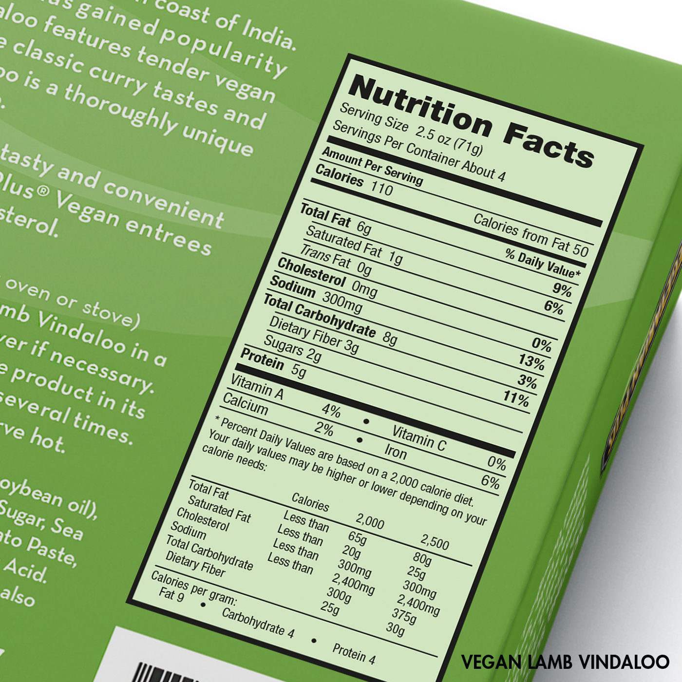 Vegan Lamb Vindaloo Nutrition Facts
