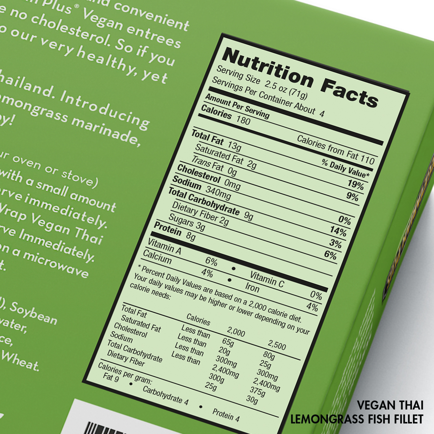 Vegan Thai Lemongrass Fish Fillets Nutrition Facts
