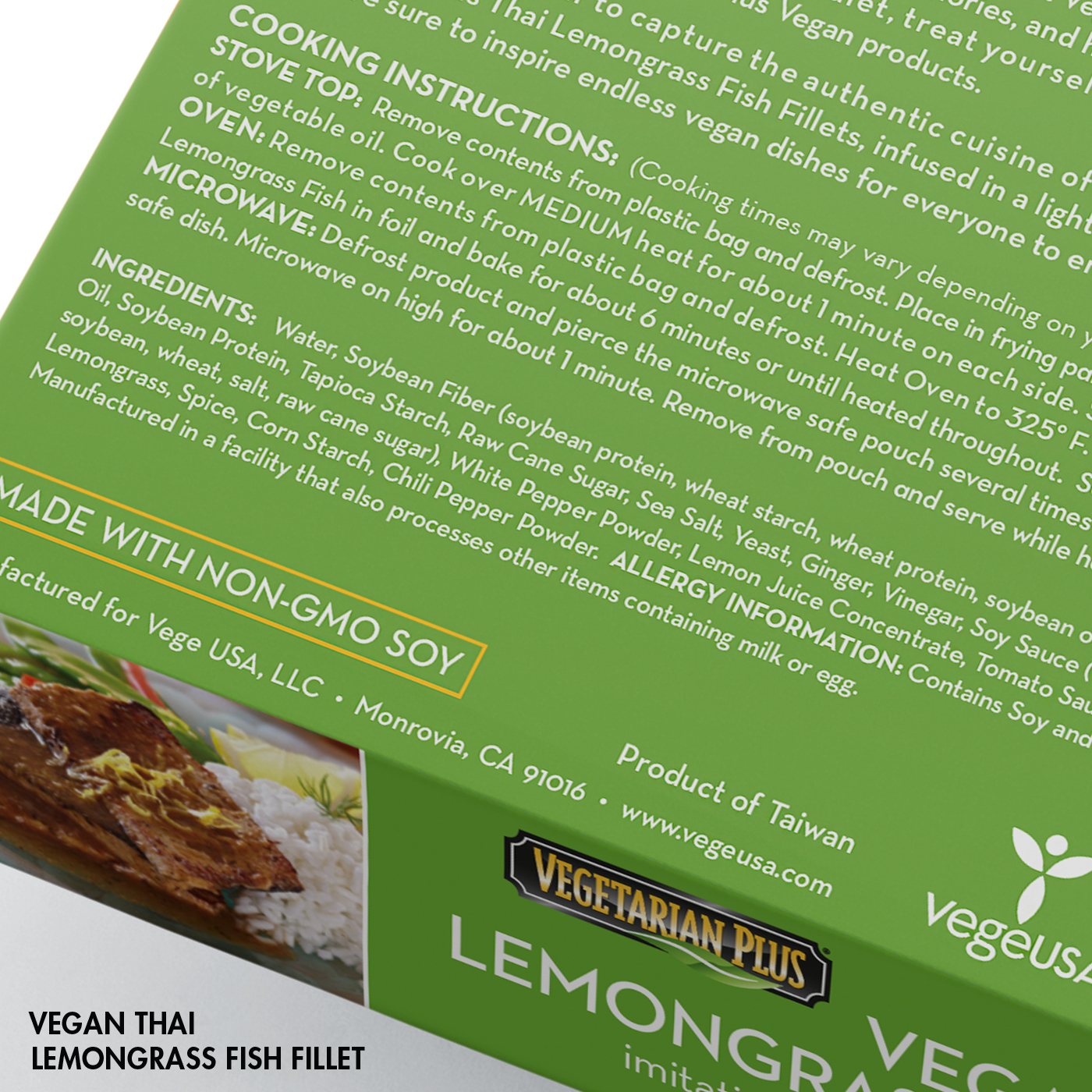 Vegan Thai Lemongrass Fish Fillets Cooking Instructions